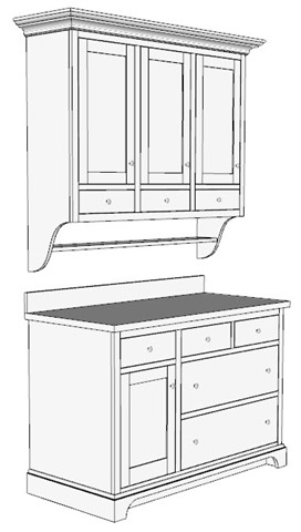 SketchUp Model of Jeremy's Country Cabinets