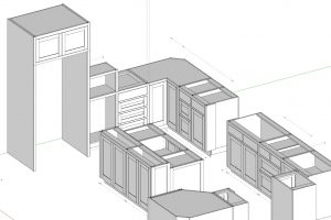 Part 4 Progress – We Added the Shallow Island Cabinet, Divided Base & Refrigerator Cabinet