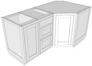A Standard Base Box Used to Create a Diagonal End Box