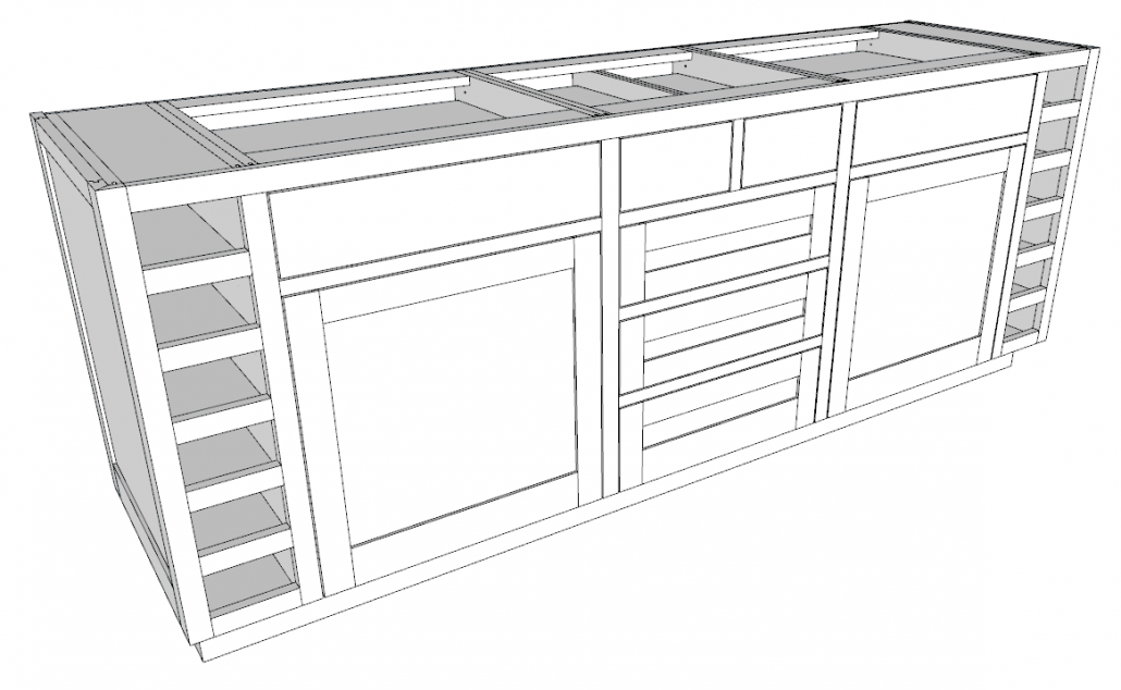 The Final Design Is a Single Cabinet Look and One Ladder Base Structure.